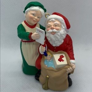 Vintage Hallmark Ornament - Checking His List